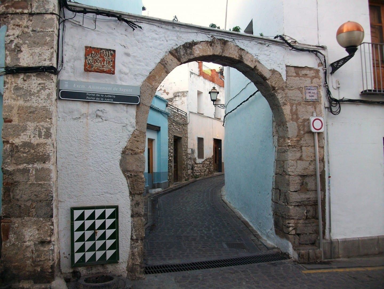 Portalet de la Sang, la entrada principal de la Jueria Puerto de Sagunto España