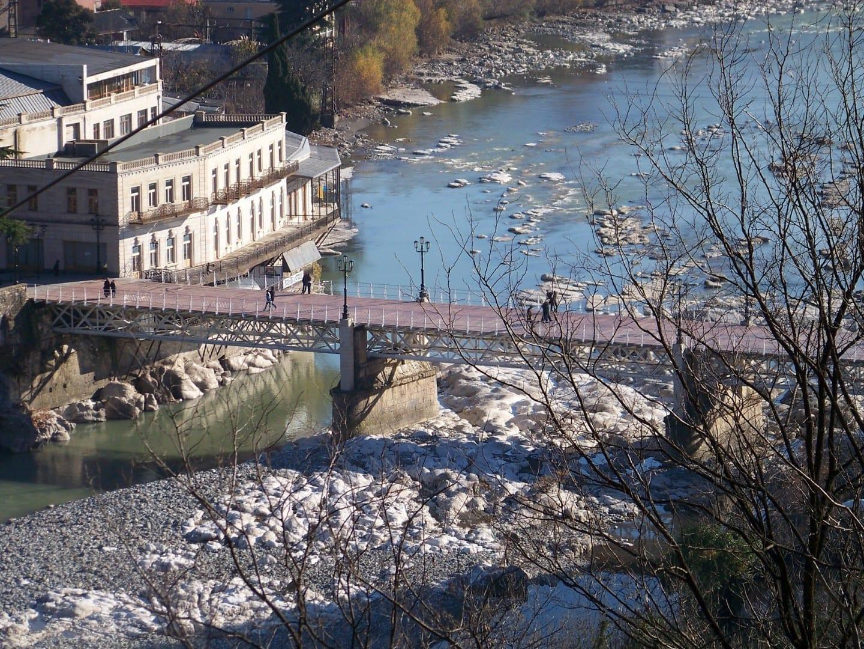 Puente blanco Kutaisi City Georgia
