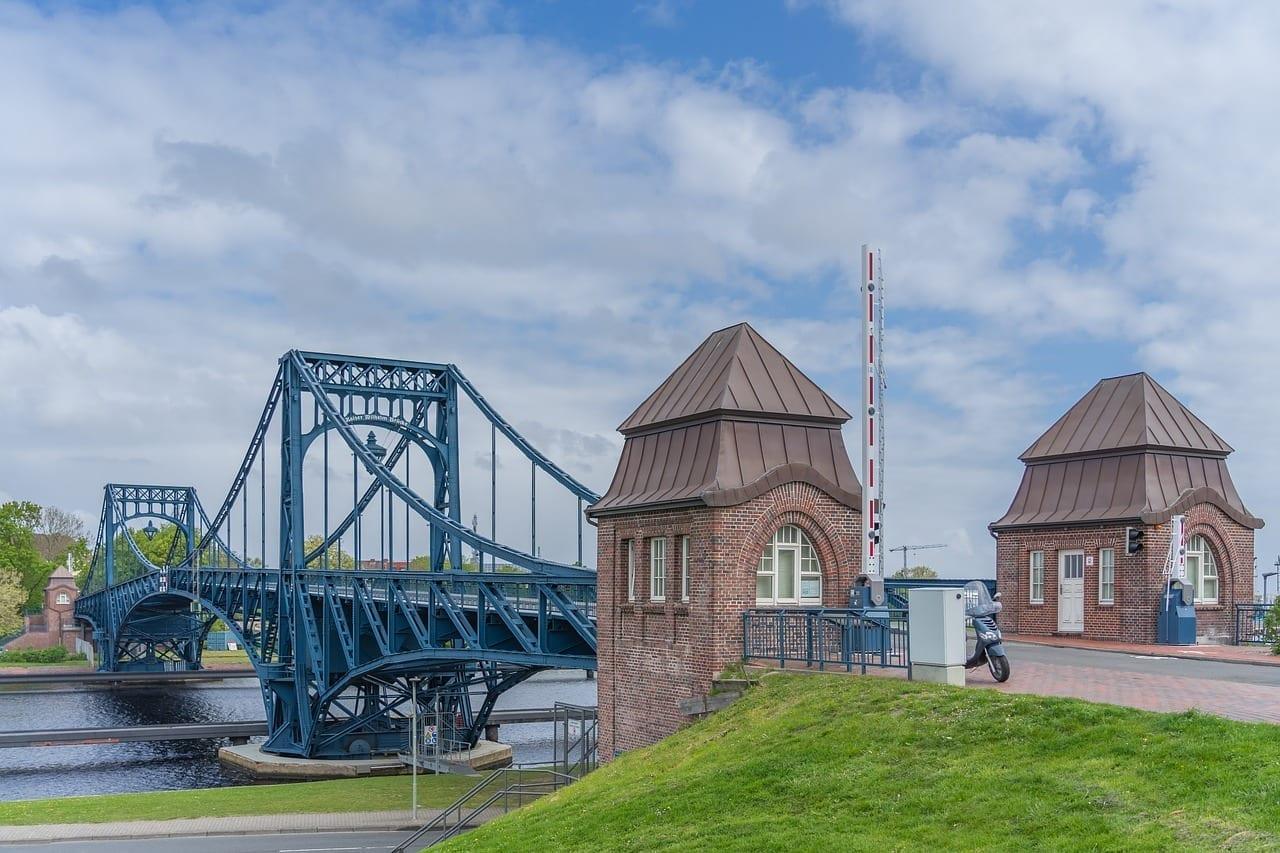 Puente De Kaiser Wilhelm Wilhelmshaven Hito Alemania