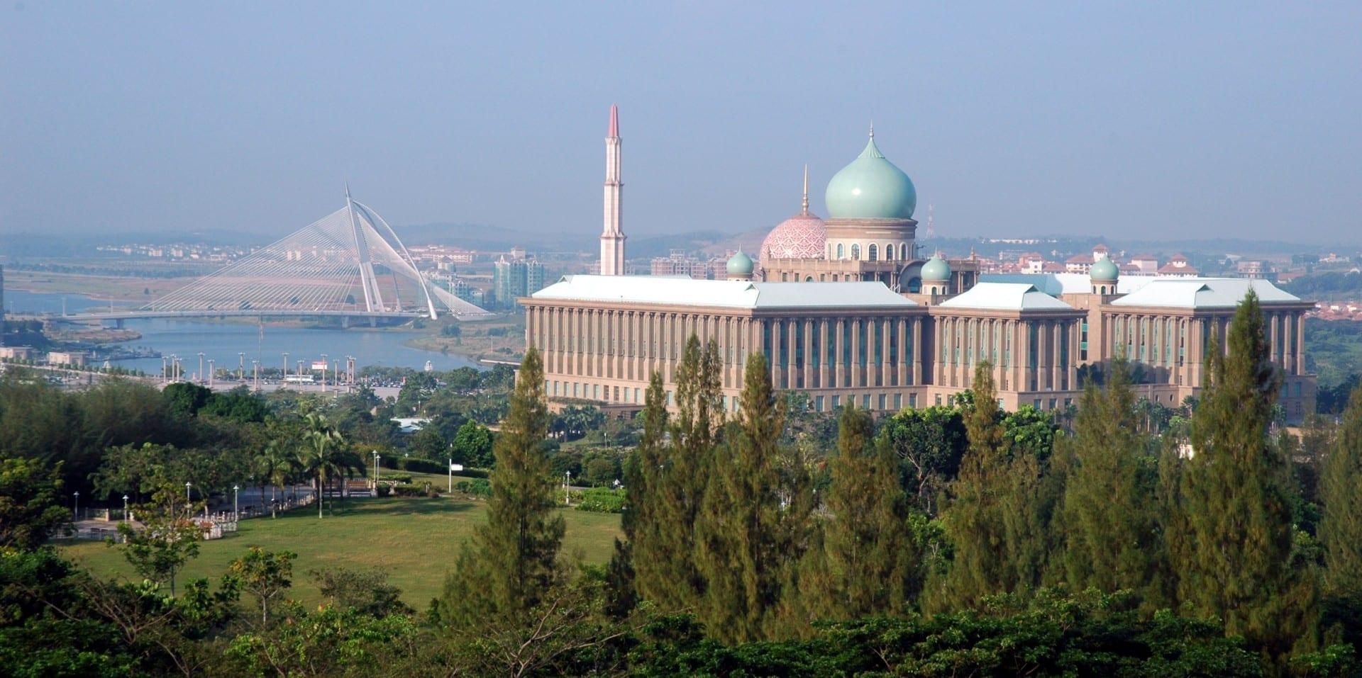 Puente Seri Wawasan, Mezquita de Putra, Putra Perdana Putrajaya Malasia