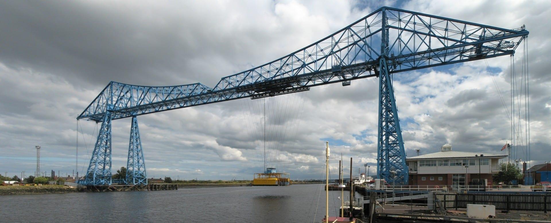 Puente transportador Middlesbrough Reino Unido