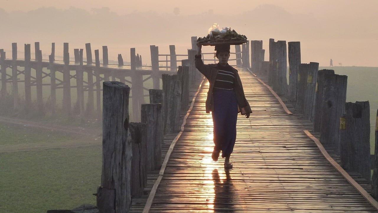 Puente U Bein Mandalay Myanmar Myanmar