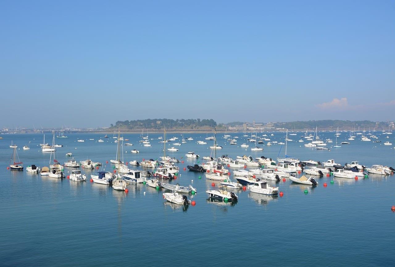 Puerto De Dinard Puerto Deportivo Vistas Panorámicas Francia