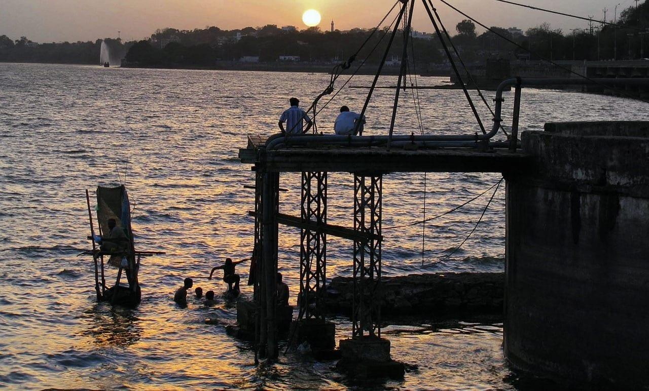 Puesta De Sol Bhopal Lago India