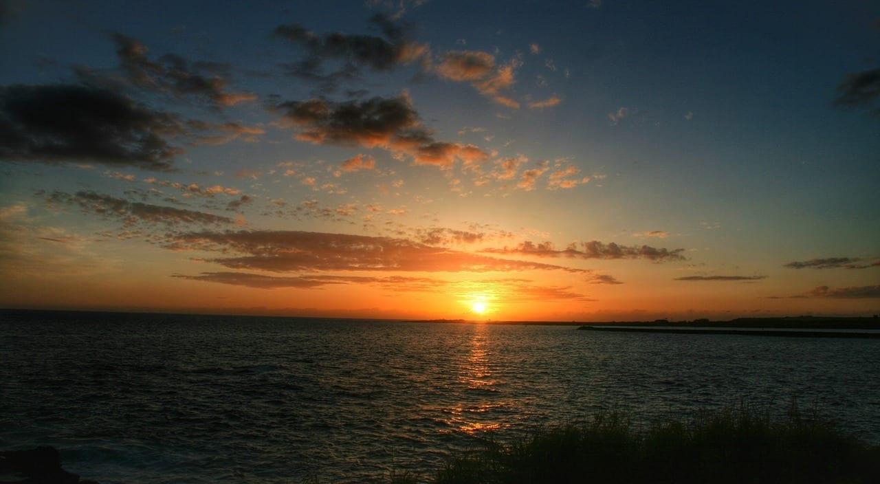 Puesta De Sol Hawaii Kauai Estados Unidos