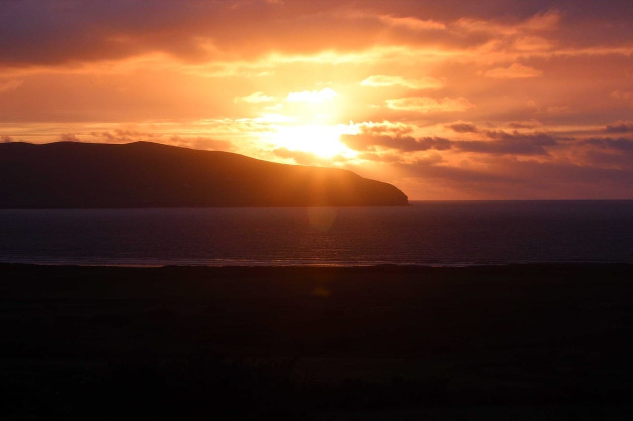 Puesta De Sol Irlanda Dingle Irlanda