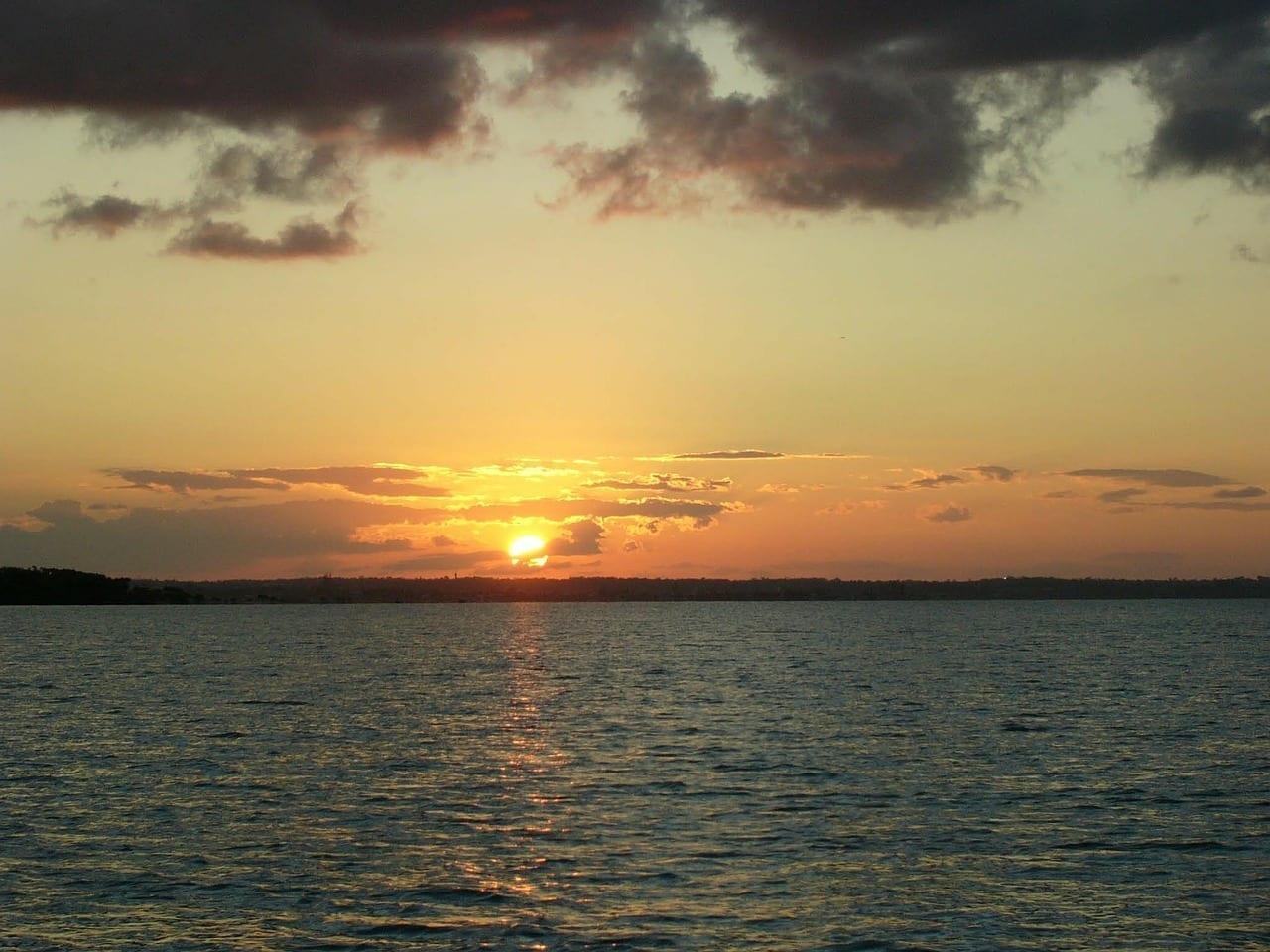 Puesta De Sol Océano Sunset Gold Coast Australia