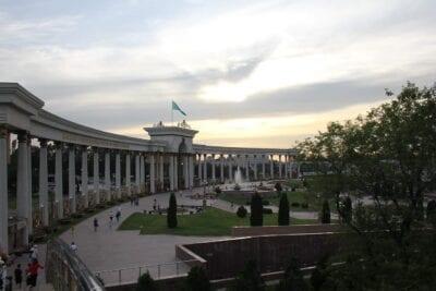 Puesta Del Sol Almaty Parque Kazajistán