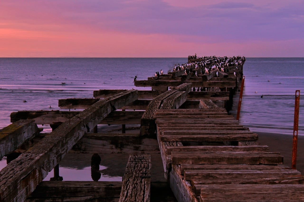 Punta Arenas Muelle Mar Chile