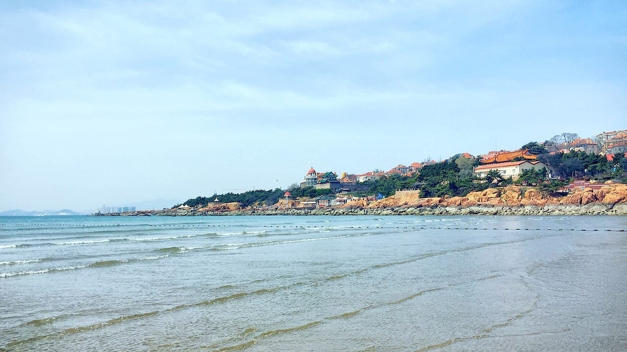 Qingdao El Mar Cielo Azul China