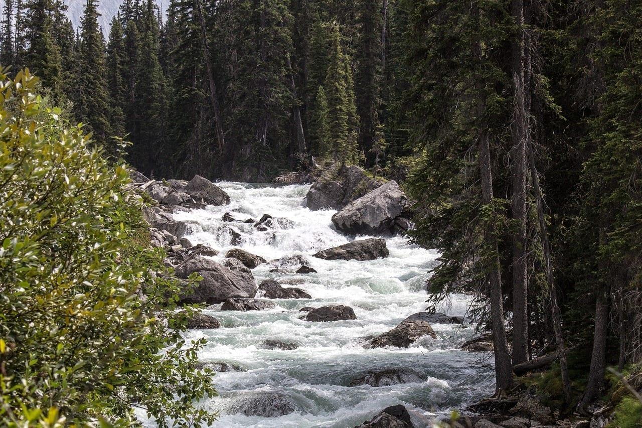 Río Maligne Jasper Alberta Canadá