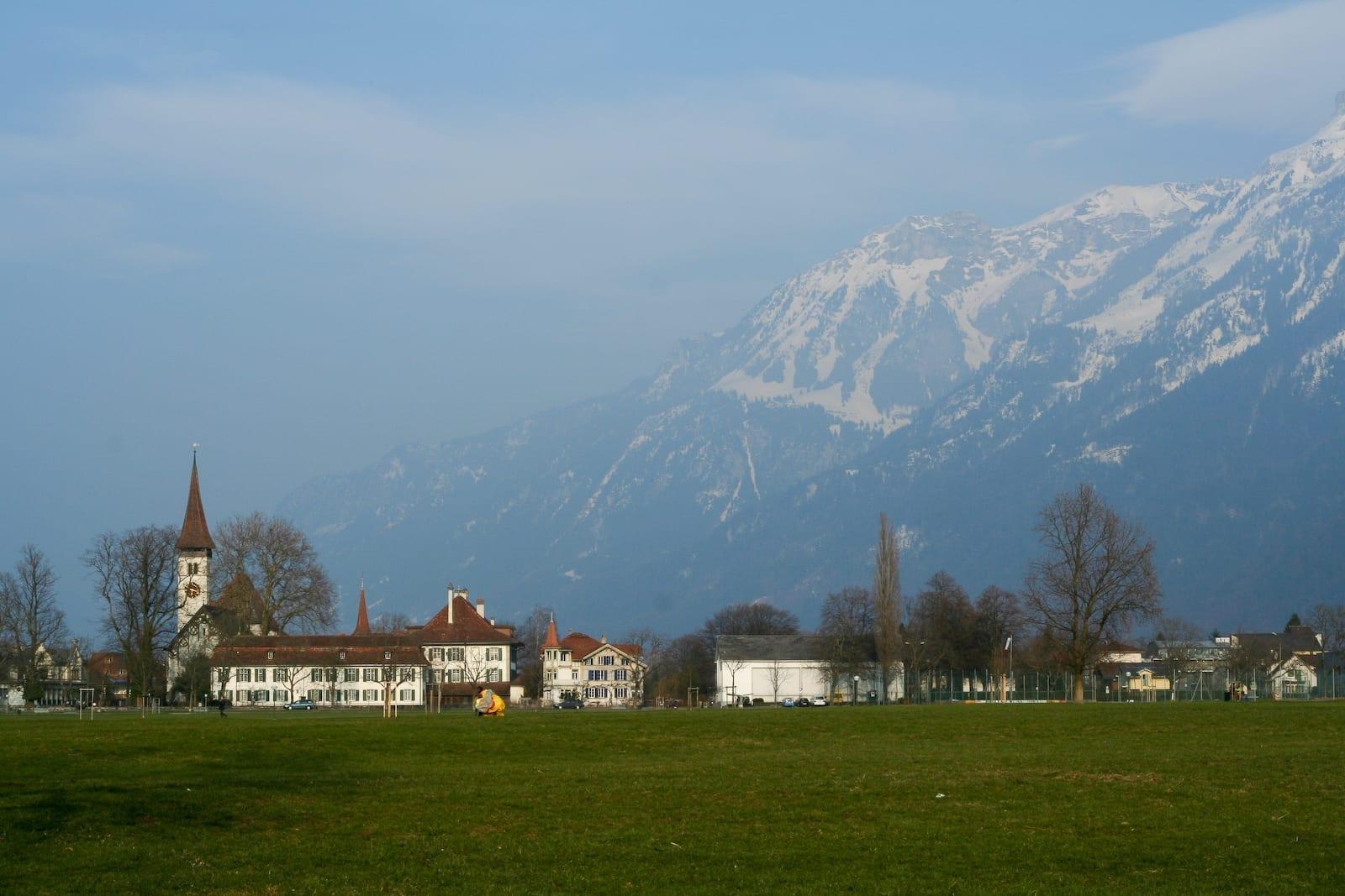 Área verde de Hoheweg Interlaken Suiza