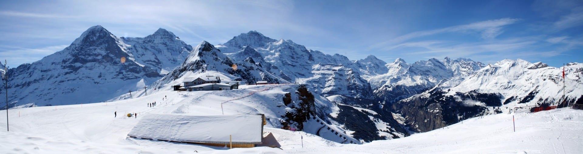 Región de deportes de invierno de Jungfrau Interlaken Suiza