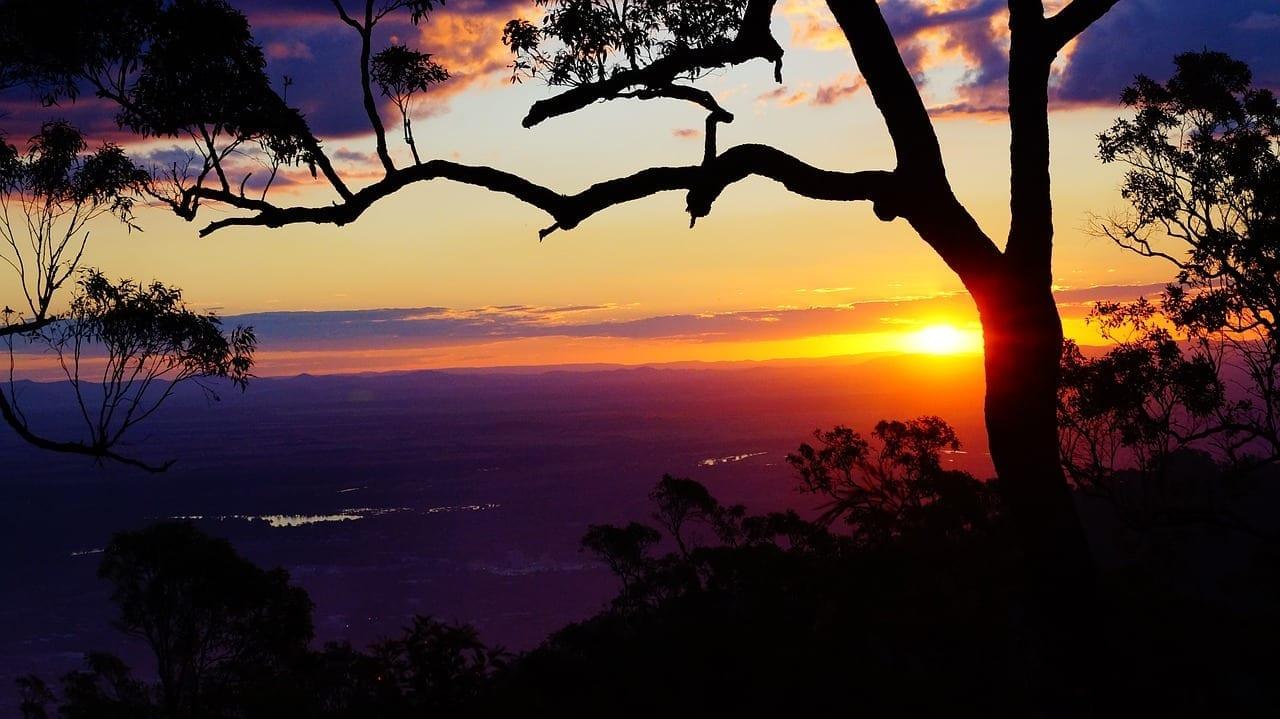Rockhampton Puesta De Sol Púrpura Australia