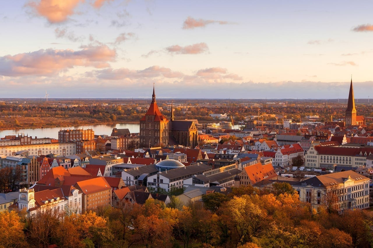 Rostock Ciudad Sunrise Alemania