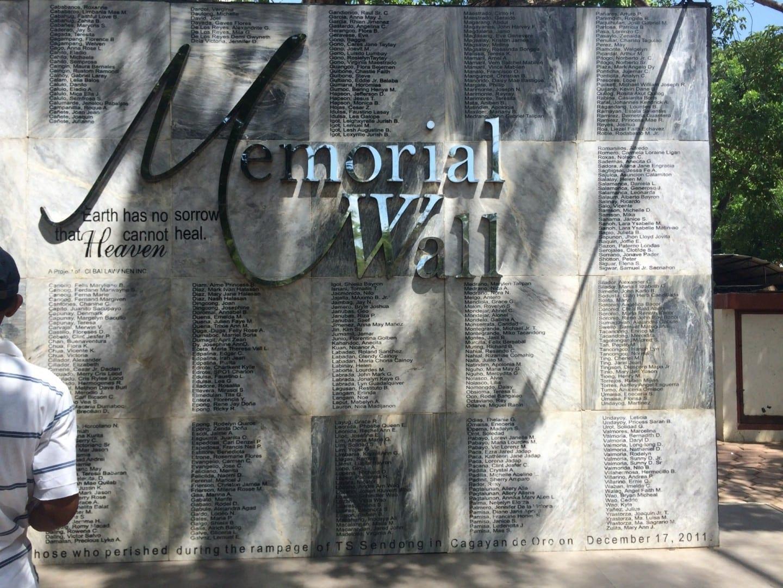 Sendong Memorial, Parque Gaston Cagayan de oro Filipinas