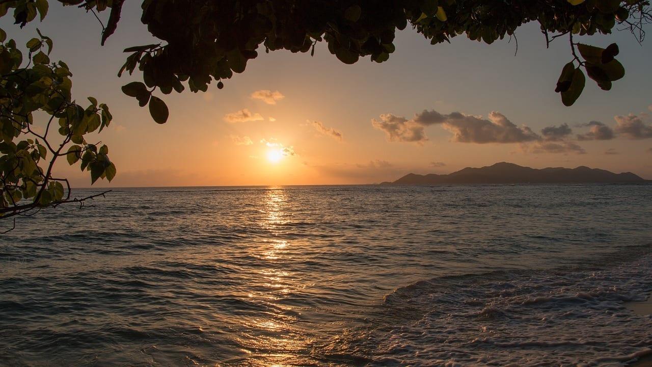 Seychelles La Digue Puesta Del Sol Seychelles