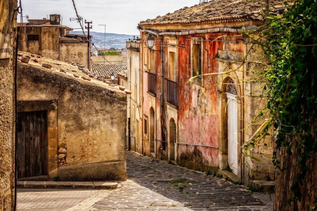 Sicilia De La Ciudad Pueblo Italia