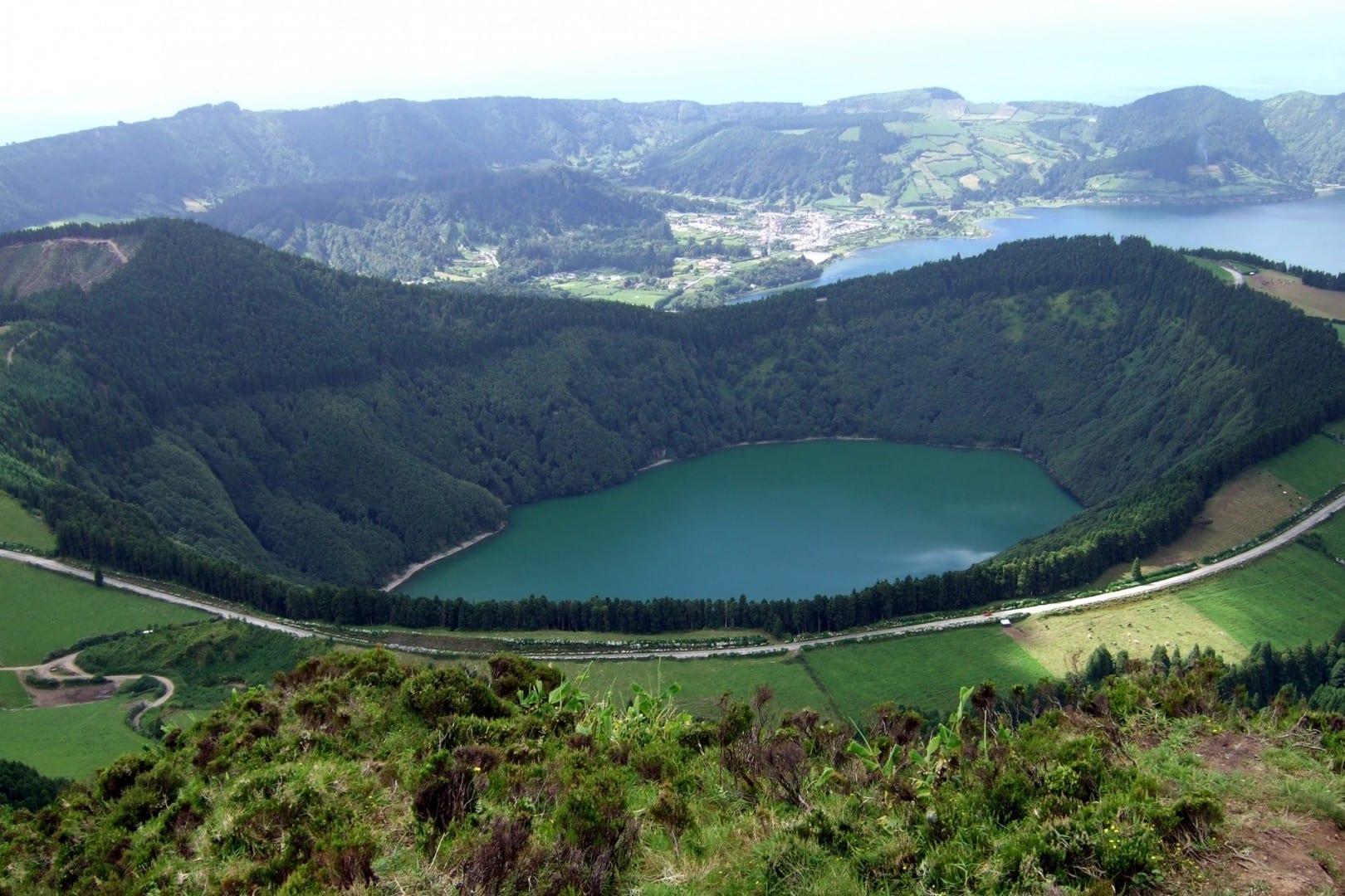 Siete ciudades de Caldera Isla de Sao Miguel Portugal