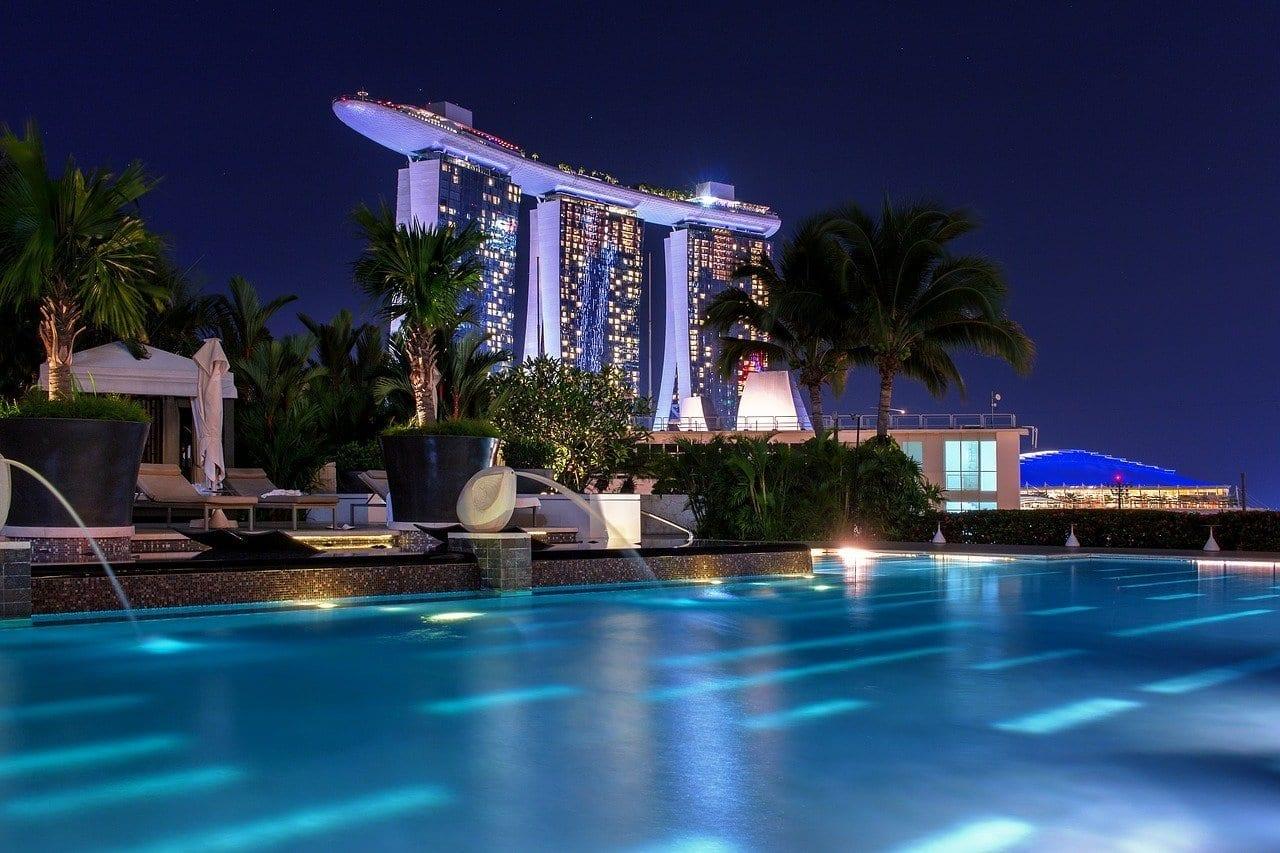 Singapur Noche Arquitectura Singapur