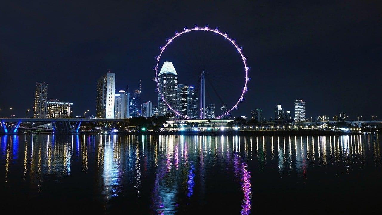 Singapur Rueda De La Fortuna Rueda Grande Singapur