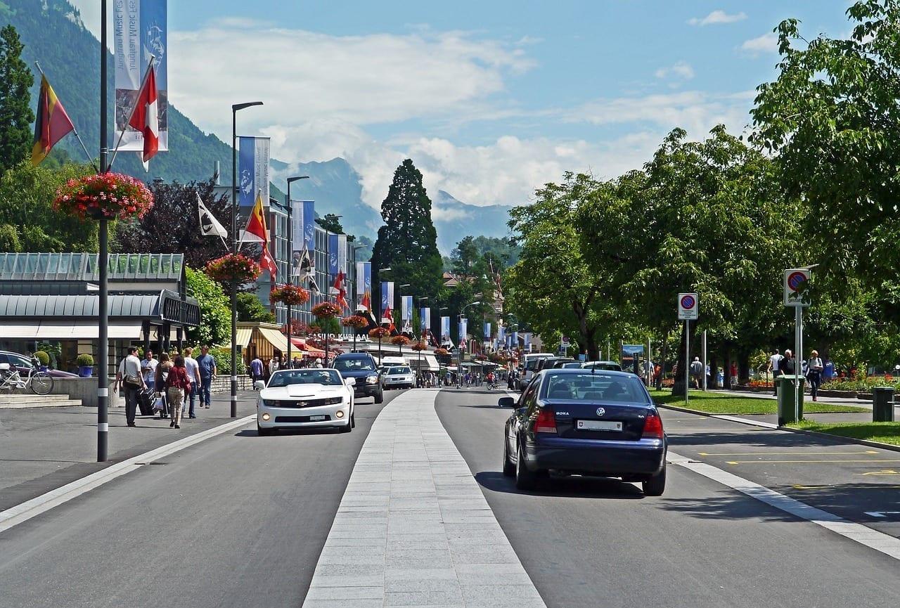Suiza Interlaken Carretera Principal Suiza