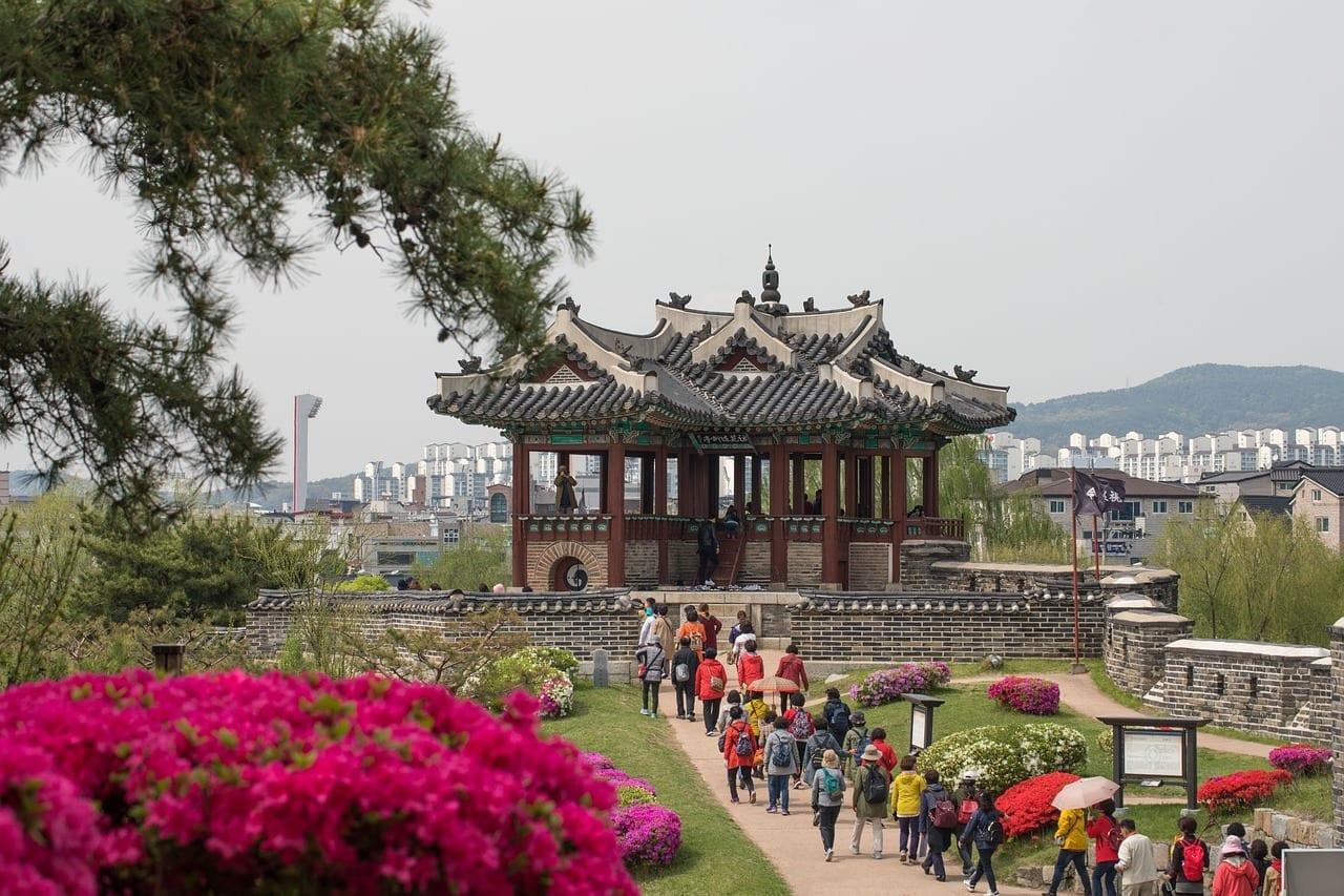 Suwon Hwaseong Un Incendio Patrimonio Cultural Del Mundo Corea del Sur