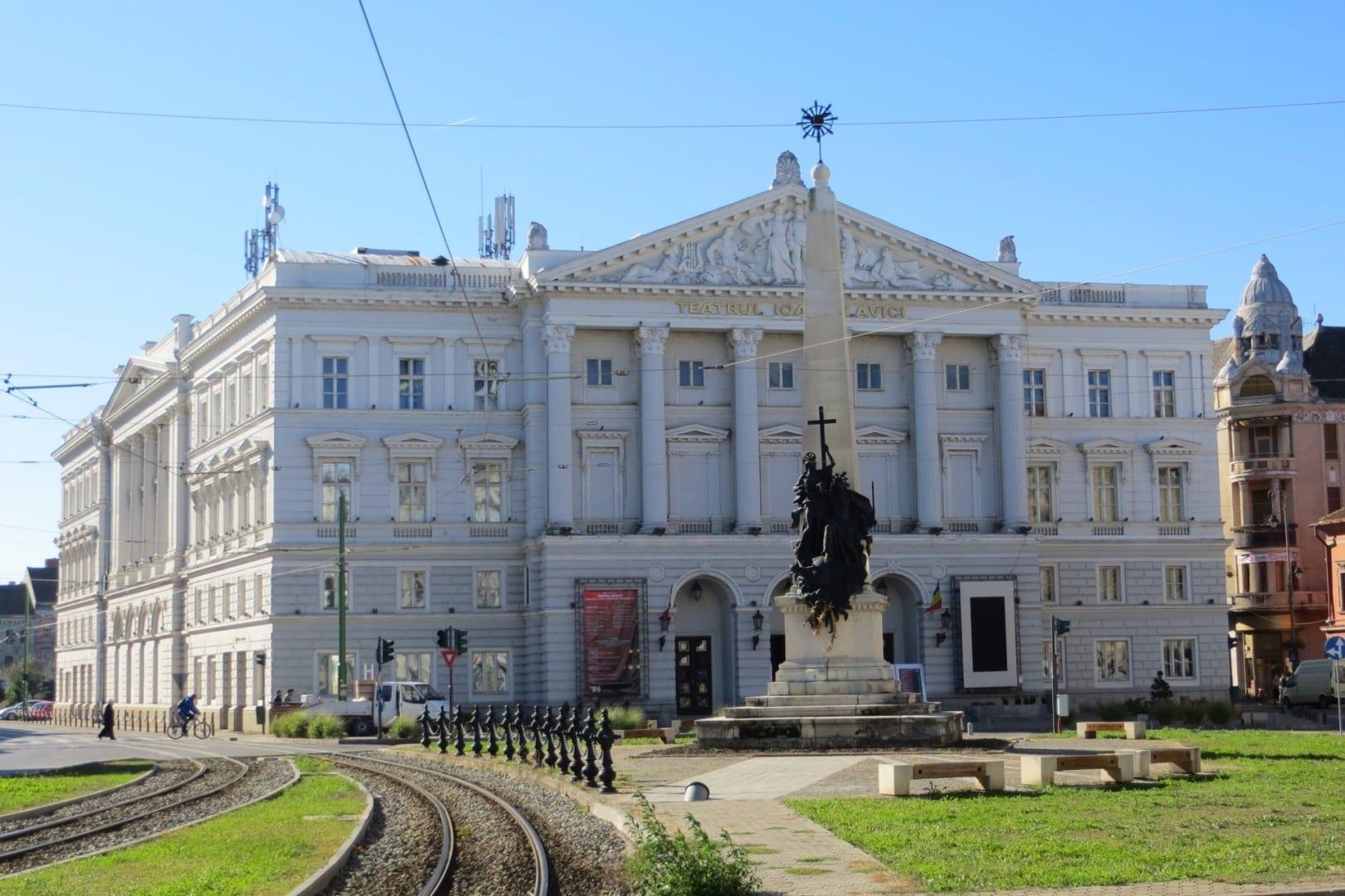 Teatro en la plaza Avram Iancu Arad Rumania