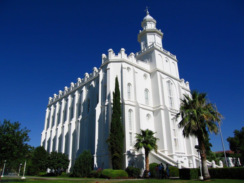 Templo SUD (mormón) St. George Utah St George Parque Nacional Estados Unidos