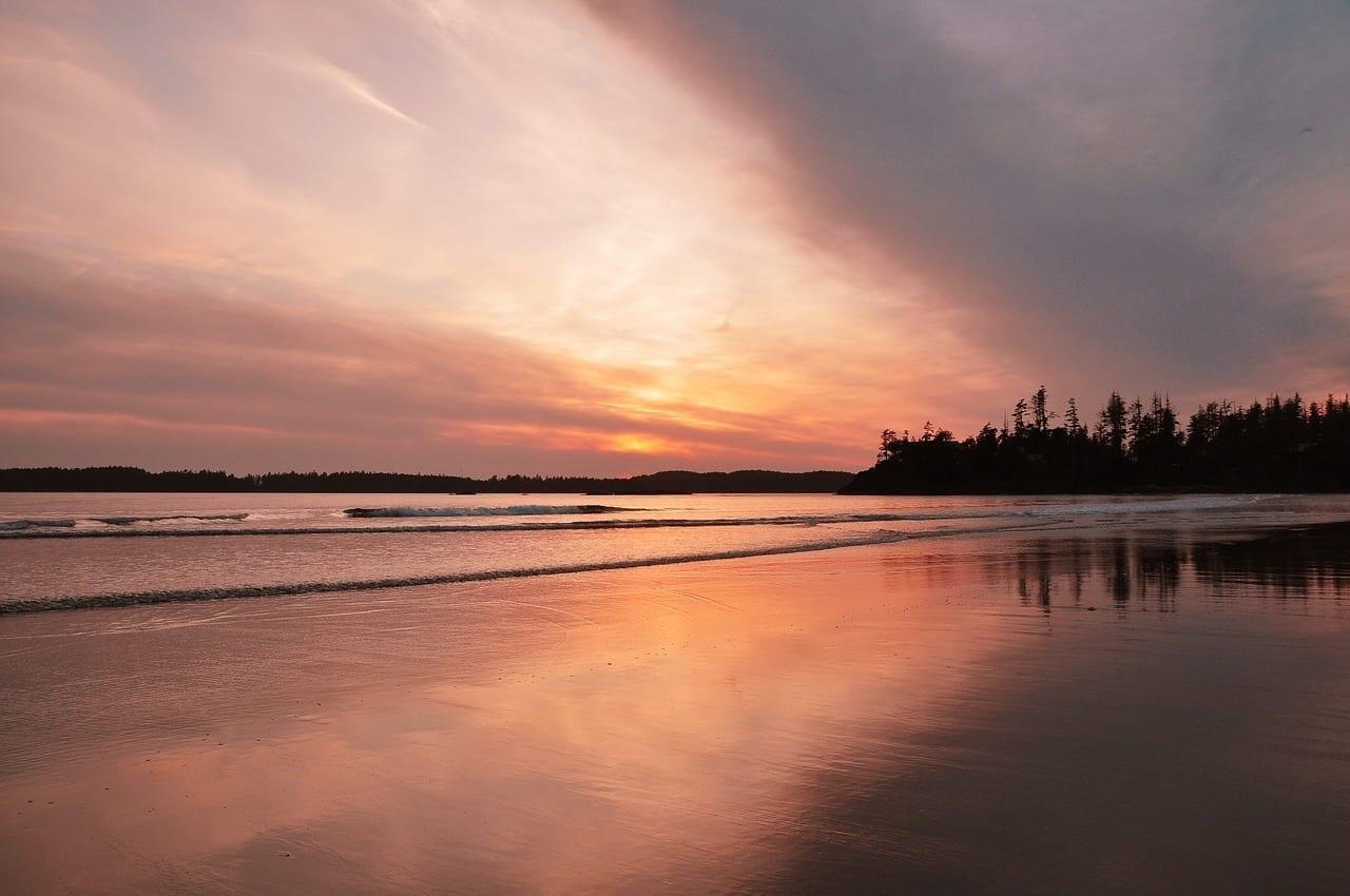 Tofino Puesta De Sol Playa Canadá