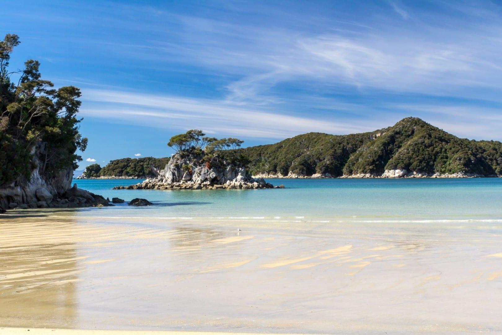 Torrent Bay Parque nacional Abel Tasman Nueva Zelanda