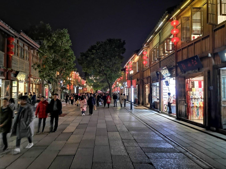 Tres carriles y siete callejones de la calle principal Fuzhou China
