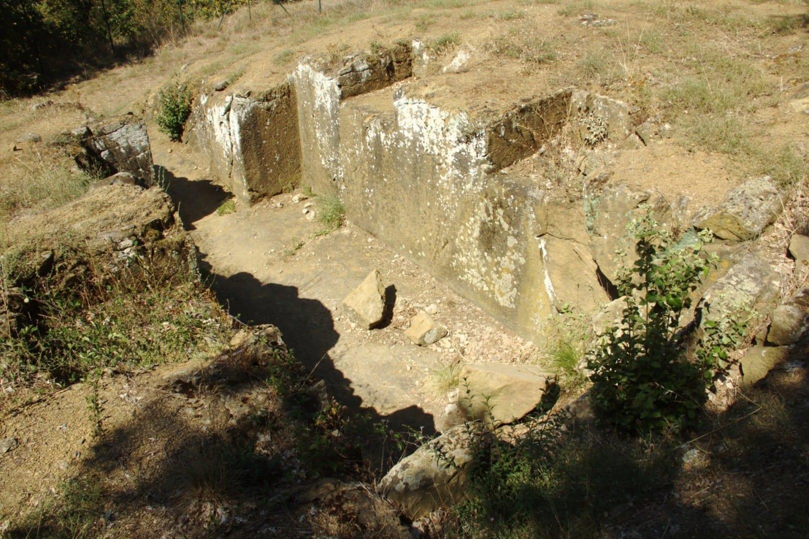 Tumbas etruscas Cortona Italia