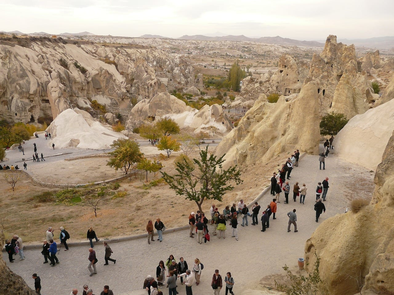 Turistas Göreme Humanos Turquía