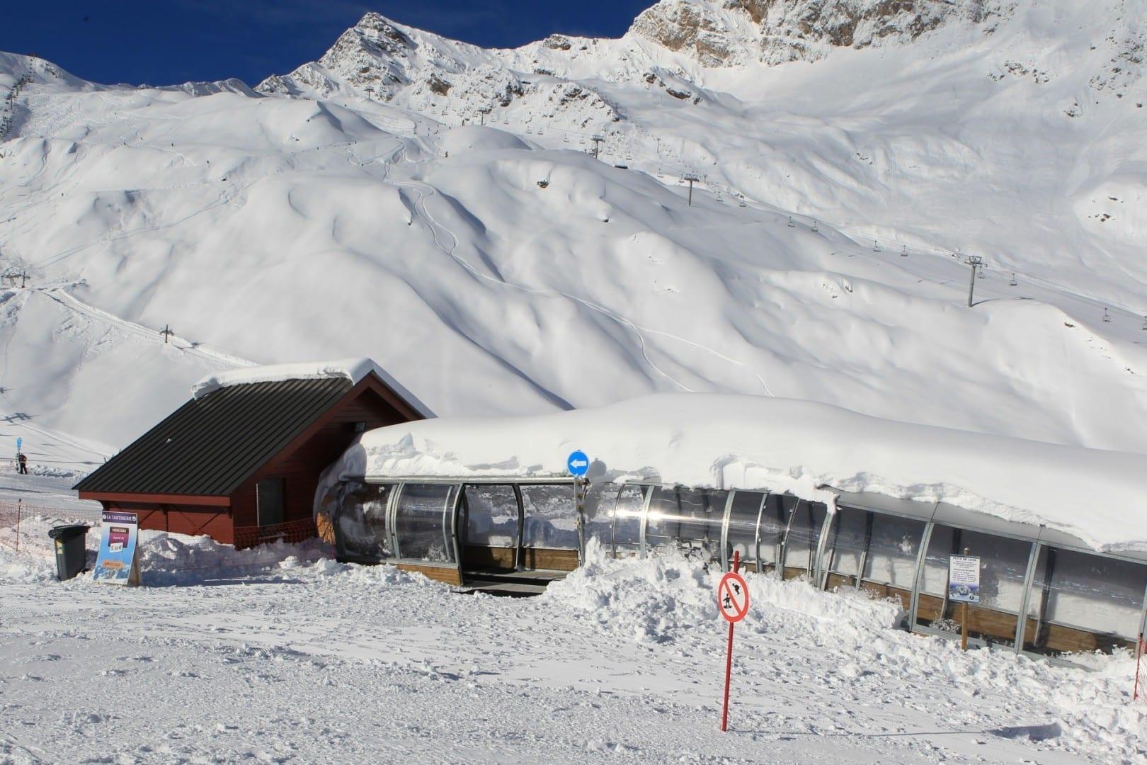 Un cinturón de diversión para los esquiadores Cauterets Francia