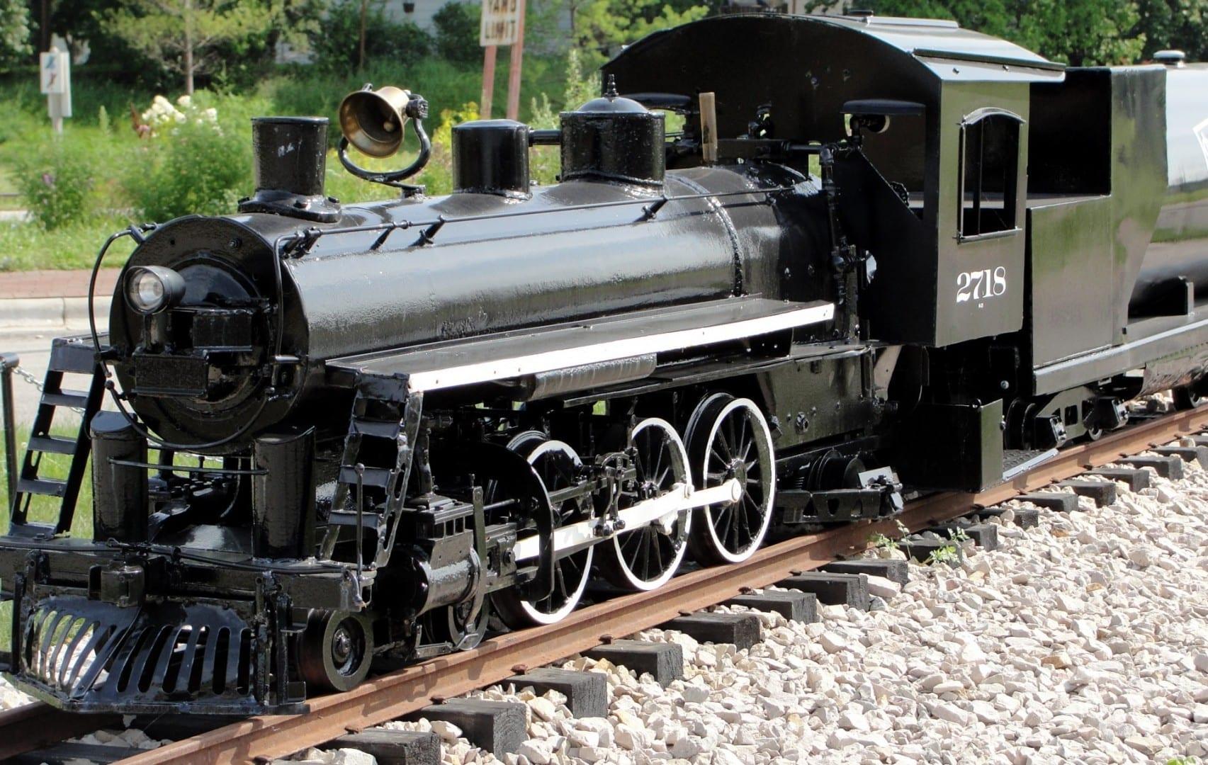 Un modelo de tren en el Museo Nacional del Ferrocarril. Green Bay WI Estados Unidos