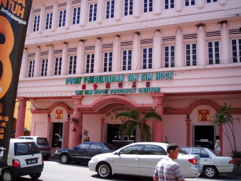 Un proveedor de frutas secas en Jalan Bendahara... Malacca Malasia