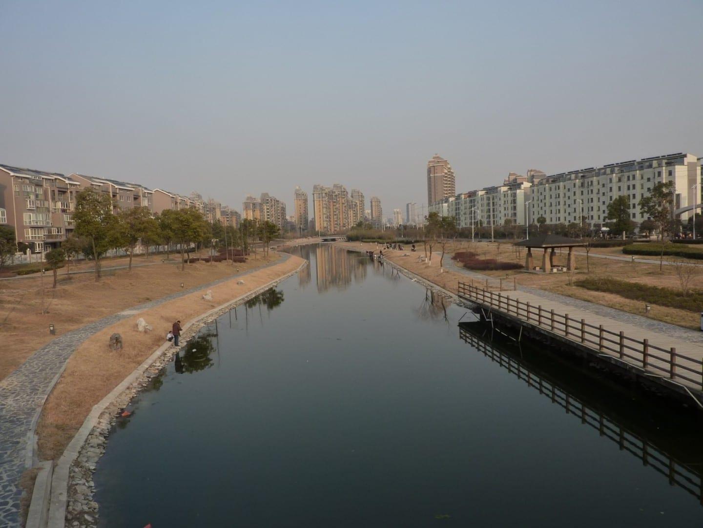 Un típico barrio moderno de clase media en Yangzhou Yangzhou China