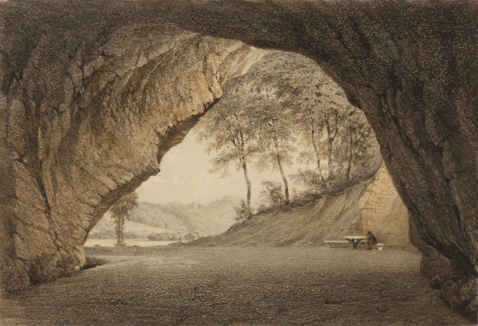 Una antigua pintura de la Cueva de Gutman Sigulda Letonia