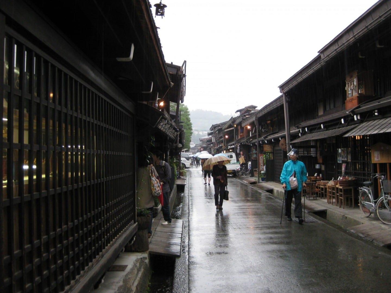 Una calle en la parte antigua de Takayama Takayama Japón