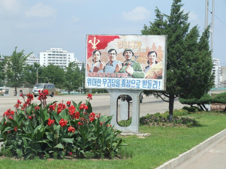 Una escena callejera en Pyongyang Pyongyang Corea del Norte