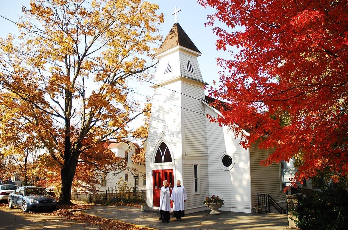 Una pequeña iglesia protestante en Eureka Springs Eureka Springs AR Estados Unidos