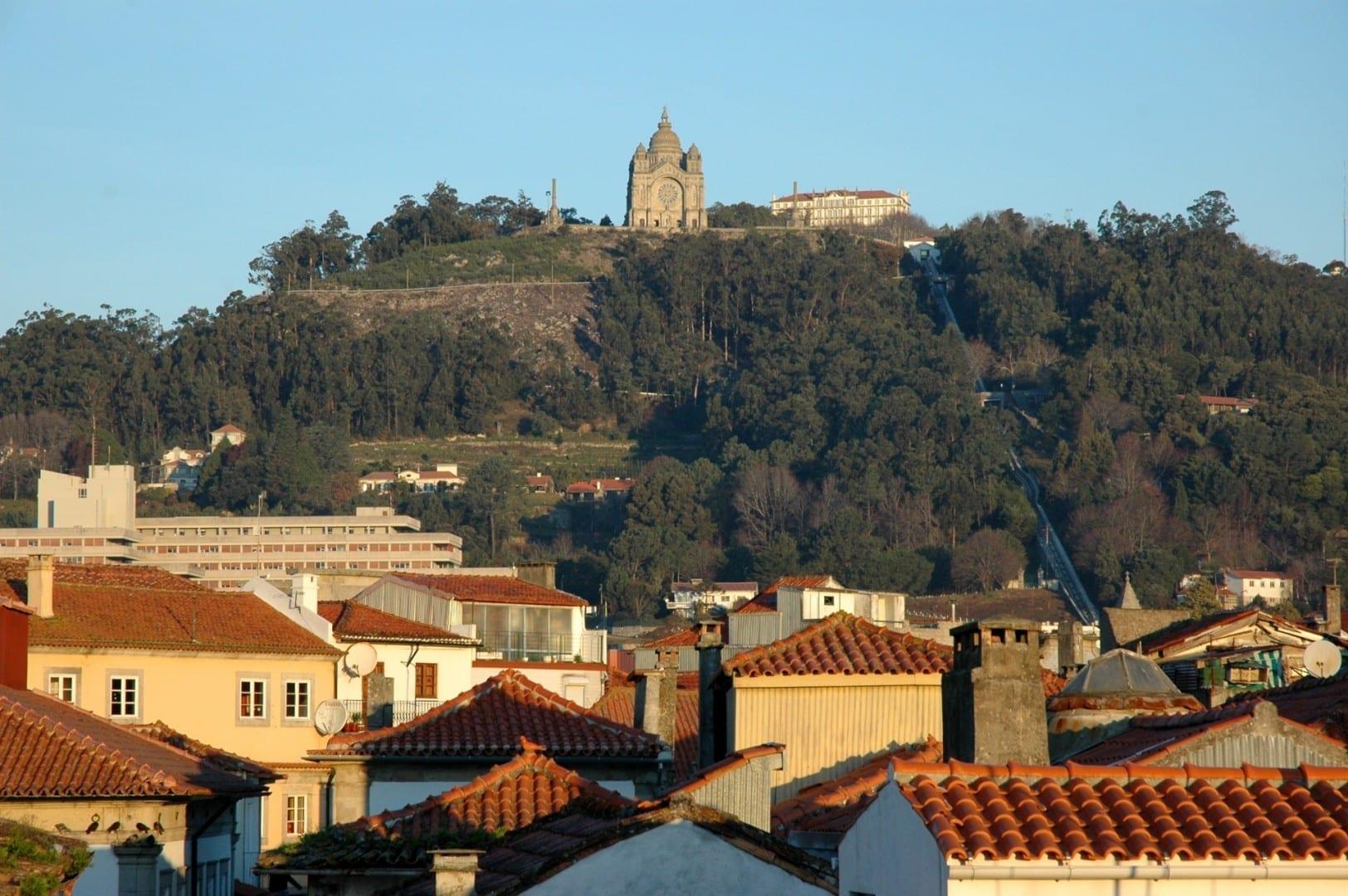 Una vista de la ciudad. Viana do Castelo Portugal