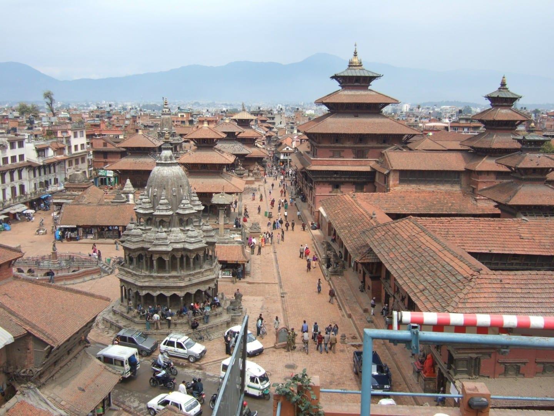 Una vista de la plaza Durbar de Patan. Patan Nepal
