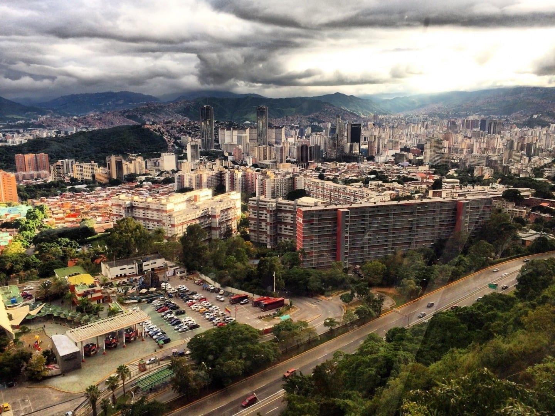 Una vista del valle de Caracas desde el Parque Nacional El Ávila. Caracas Venezuela