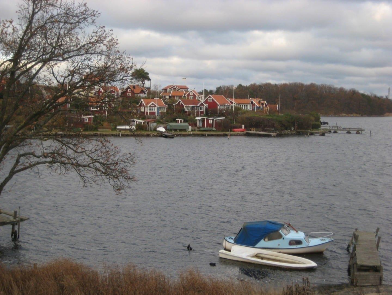 Una vista sobre Brändaholm desde Saltö Karlskrona Suecia