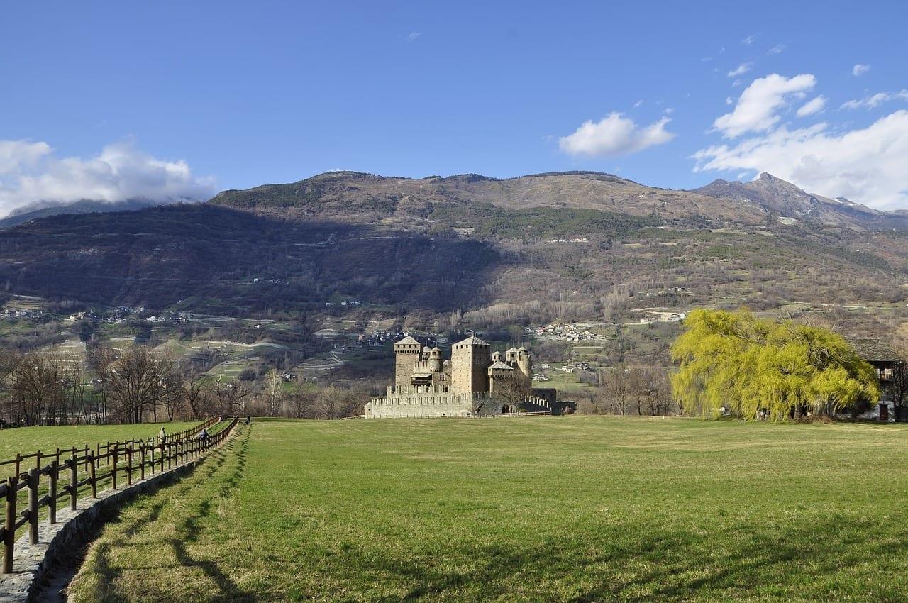 Valle D' Aosta Castillo Prato Italia