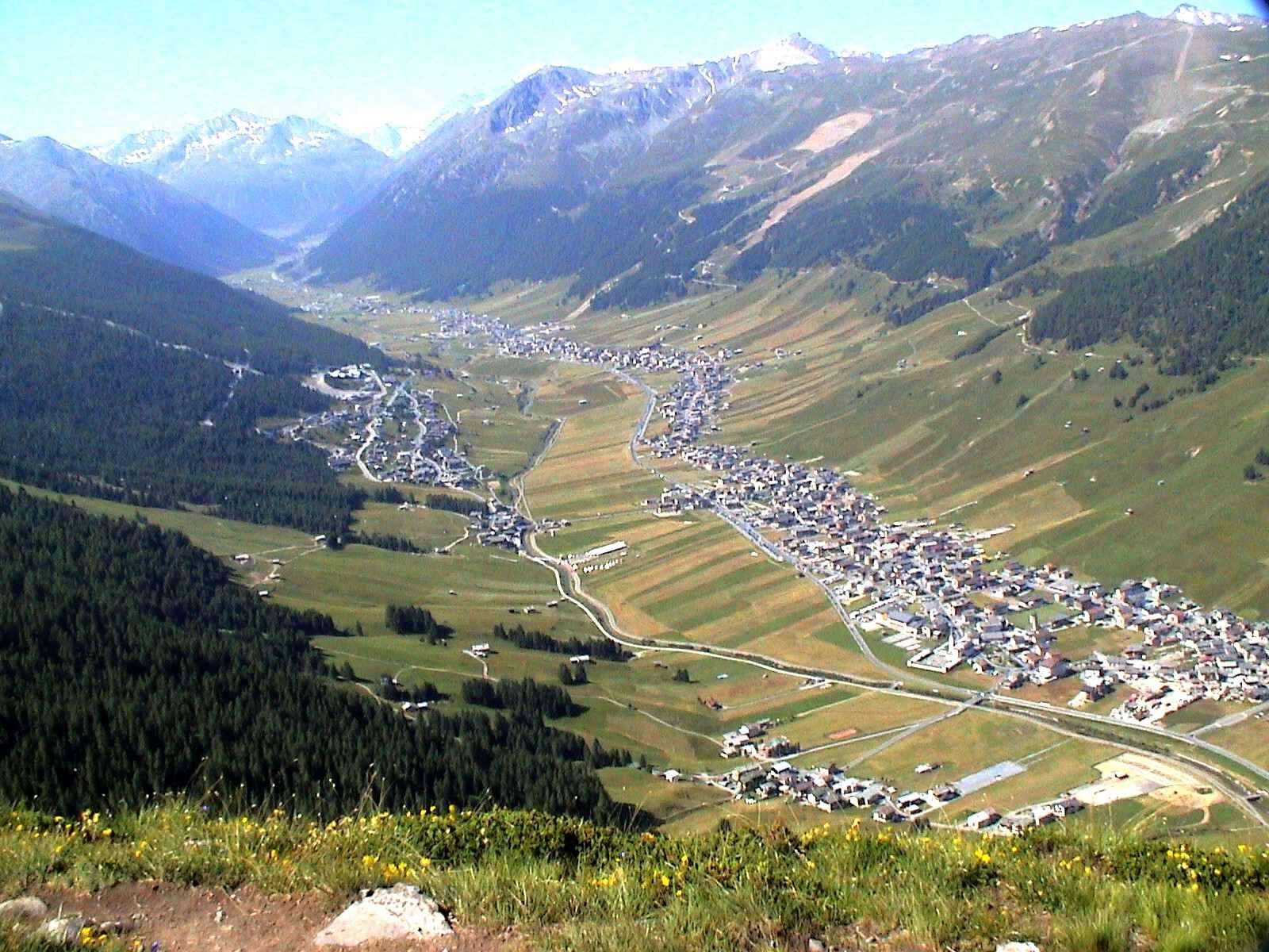 Visión general del valle Livigno Italia