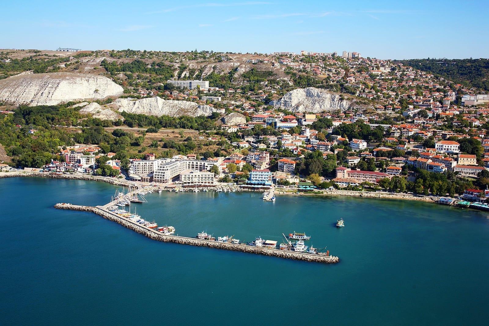 Vista aérea de Balchik Balchik Bulgaria