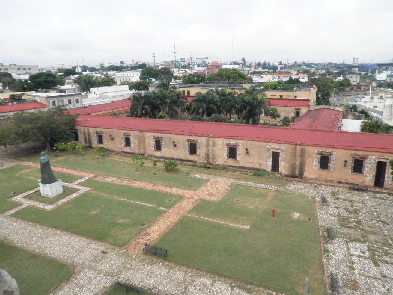 Vista aérea de la Fortaleza de Ozama Santo Domigo República Dominicana